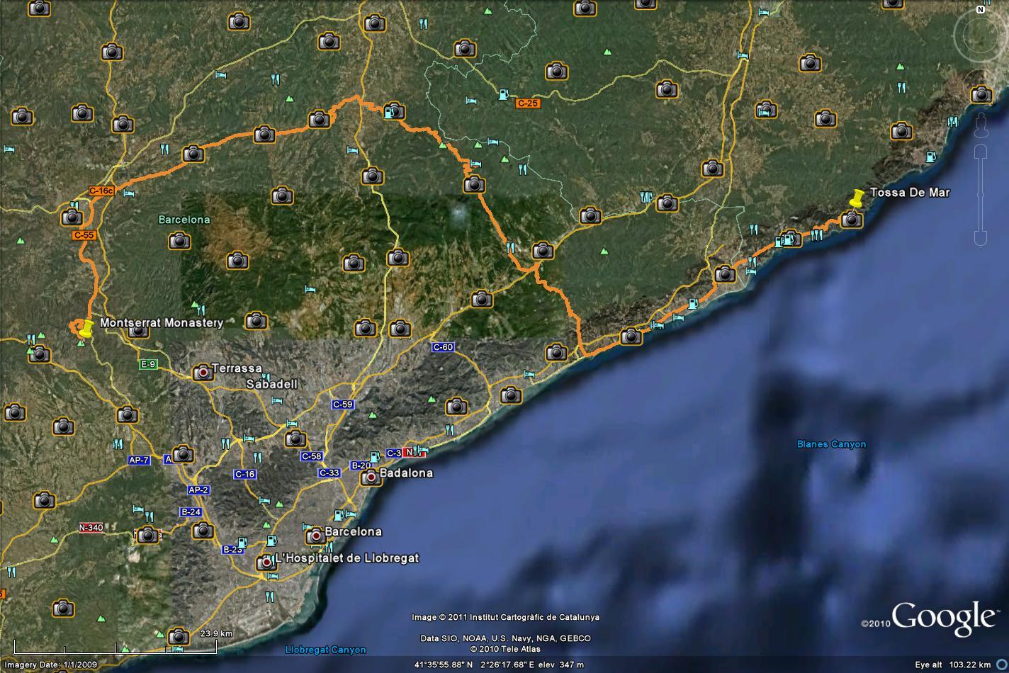 Tossa De Mar - Montserrat Route