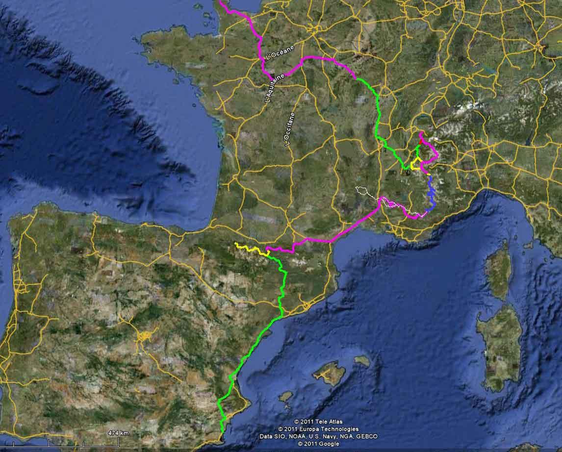 2011 Tour Map