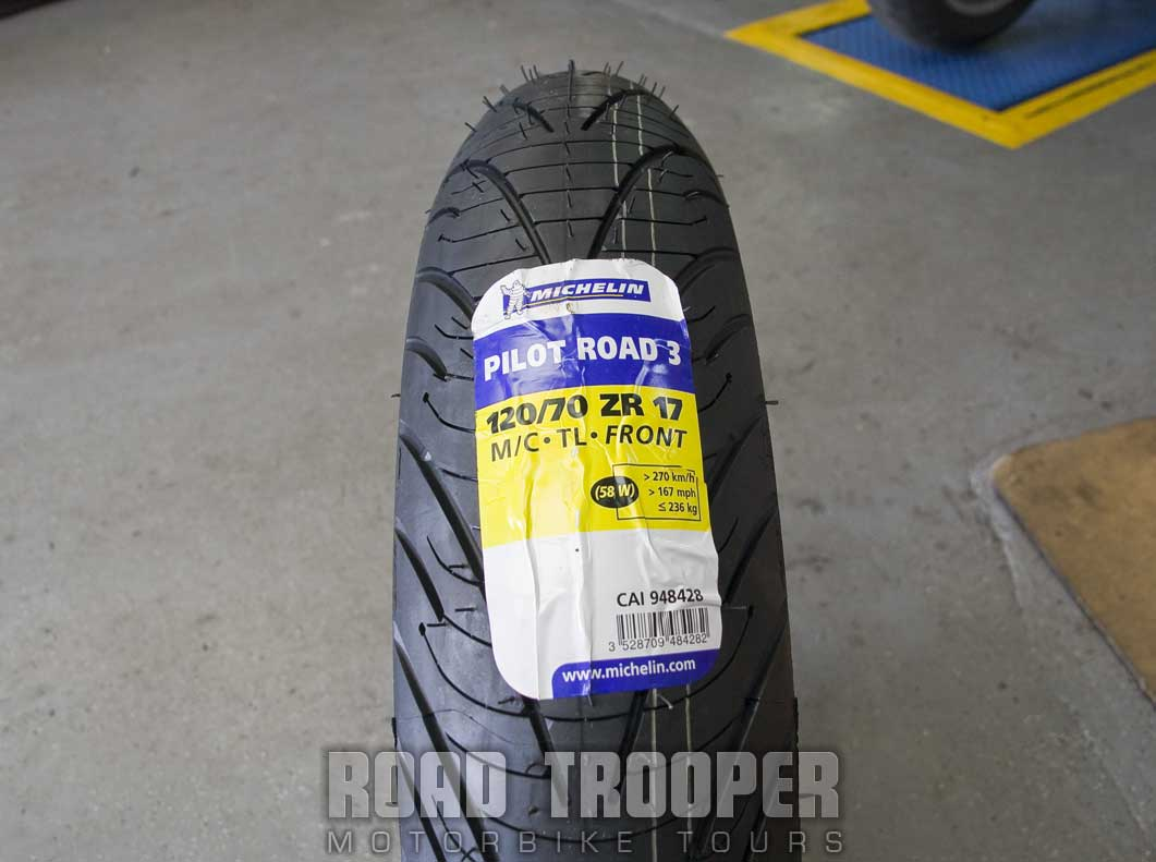 Michelin Pilot Road 3 donated by Platinum Motorcycles for this 6,500km road test