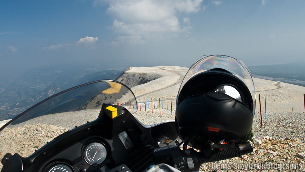 Looking west over the barren summit of Mont Ventoux.